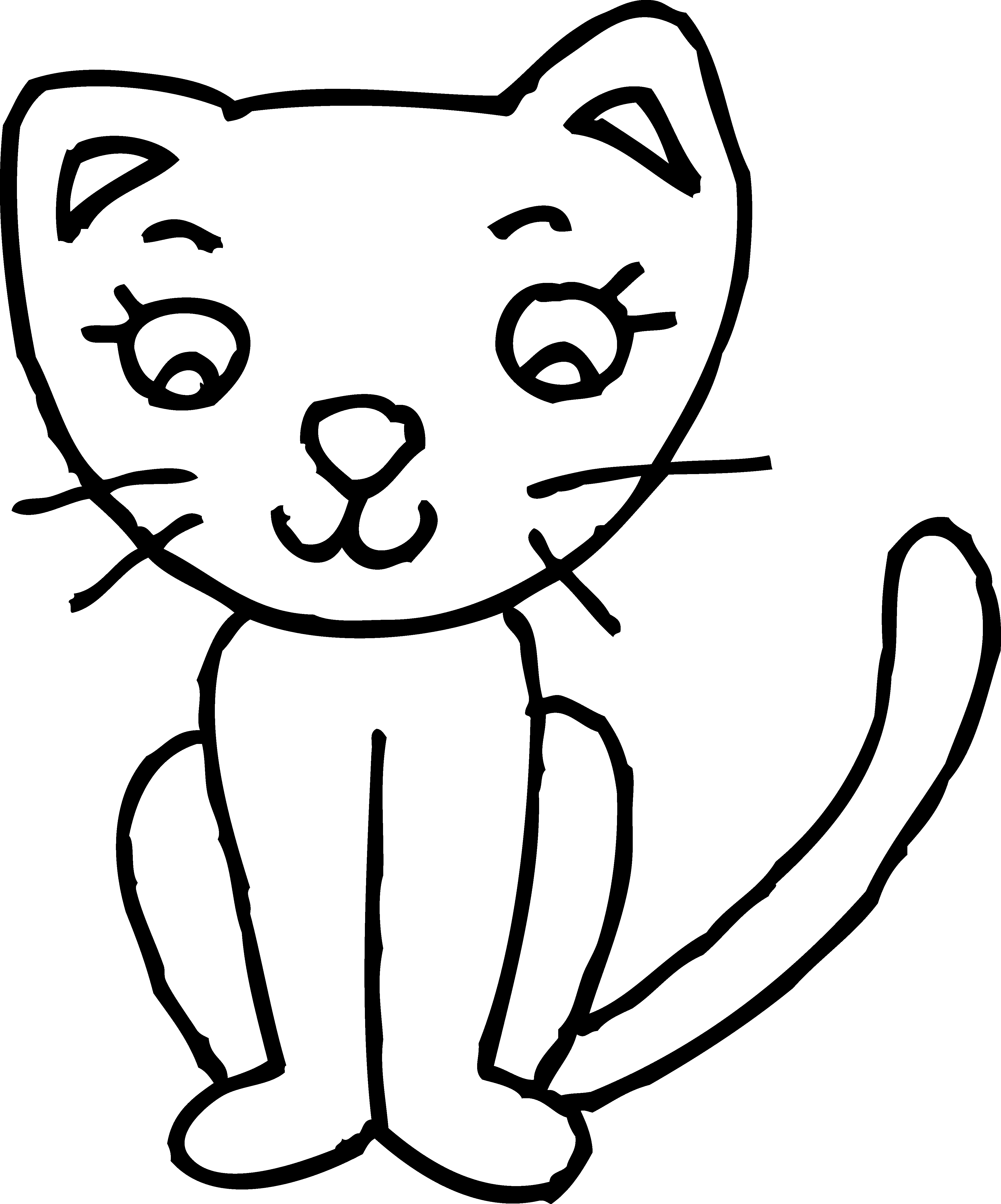 Cat Clip Art Black And White - Cliparts.co