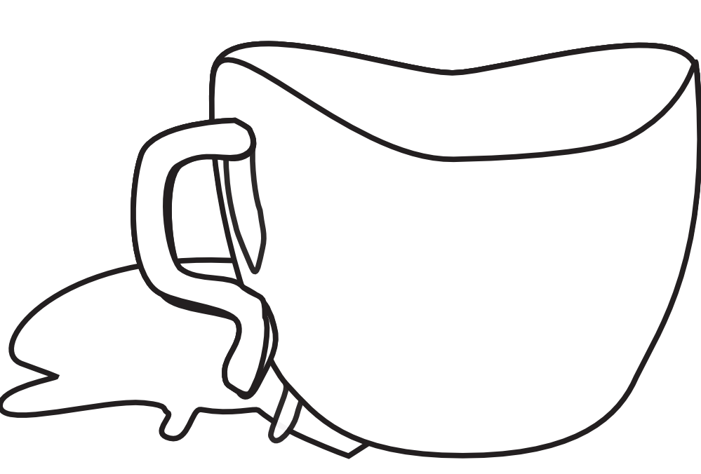 cup hunky dory SVG colouringbook.