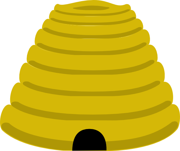 Beehive clip art - vector clip art online, royalty free & public ...