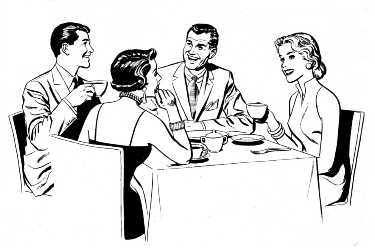 Images For > Clip Art Family Dinner Table