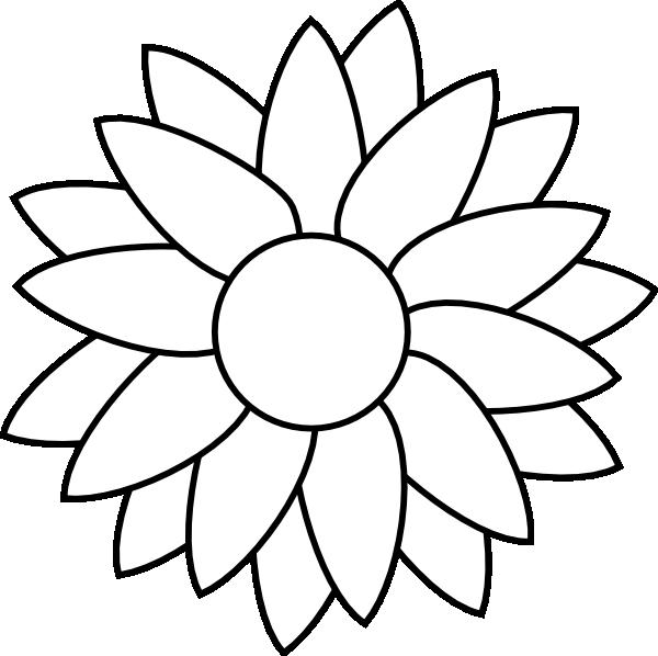 Sun Flower Template clip art - vector clip art online, royalty ...