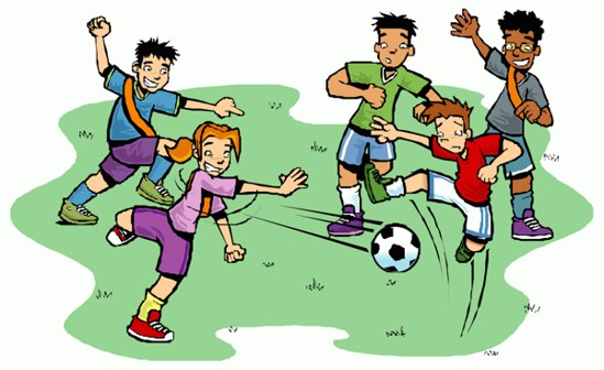 Clipart Kids Playing Football - ClipArt Best