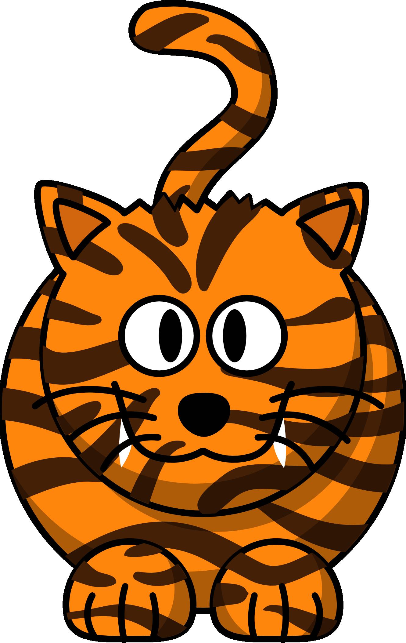 Cartoon Baby Tigers - Cliparts.co