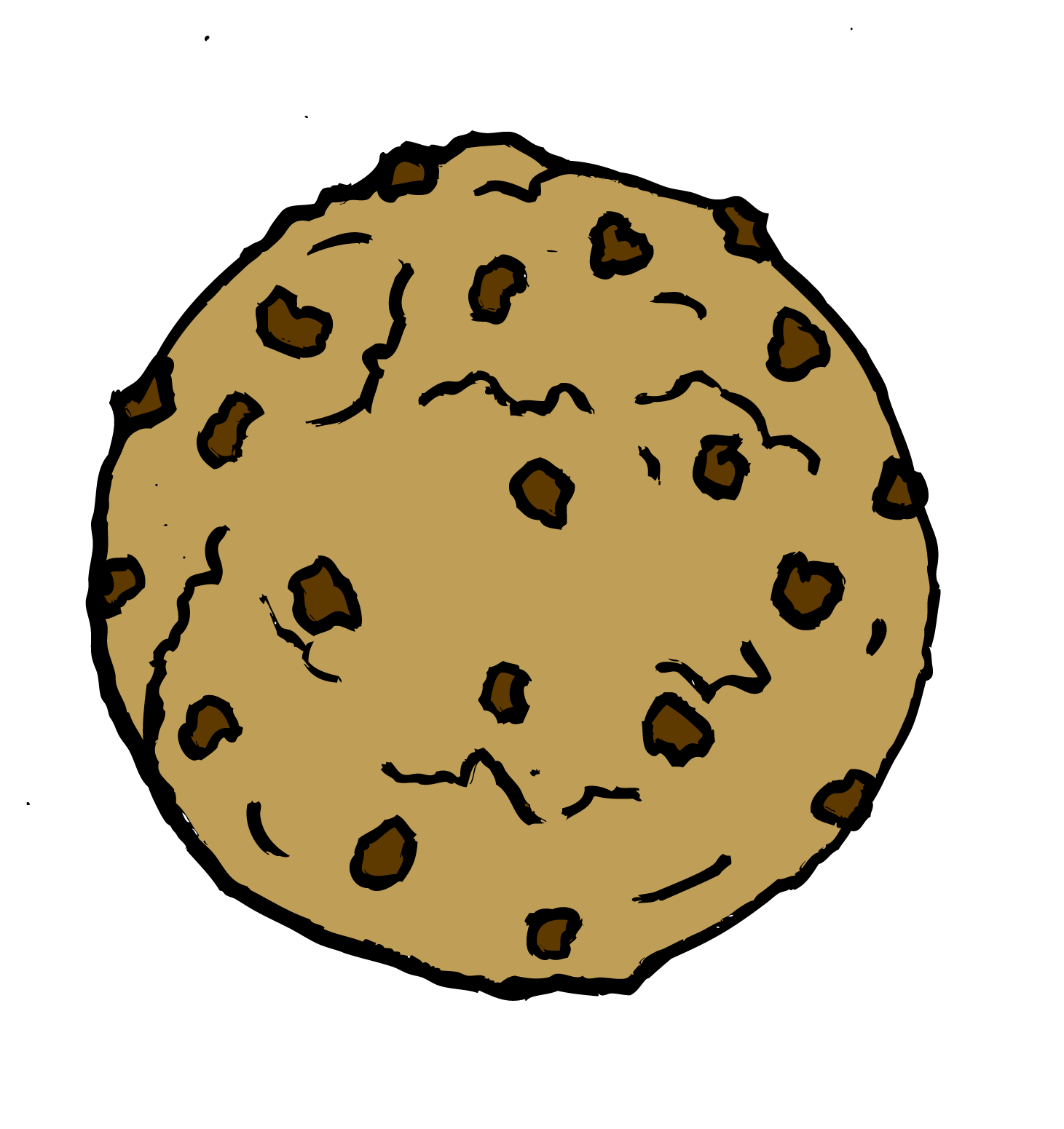 Chocolate Chip Cookie Coloring Page | Clipart Panda - Free Clipart ...