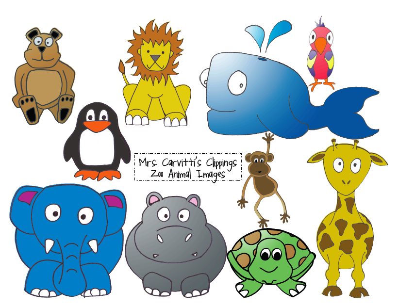 free clipart zoo animals - photo #22