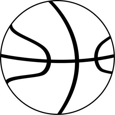Black and White Basketball Ball Clip Art - Black and White ...