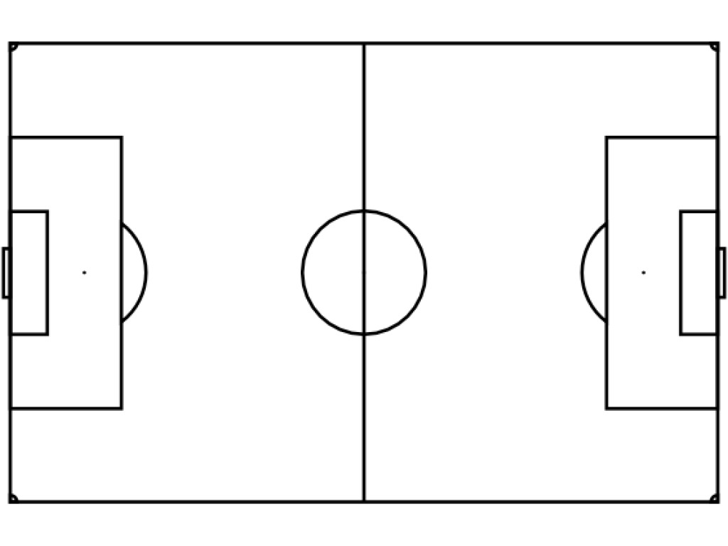 Simplicity image in soccer field printable
