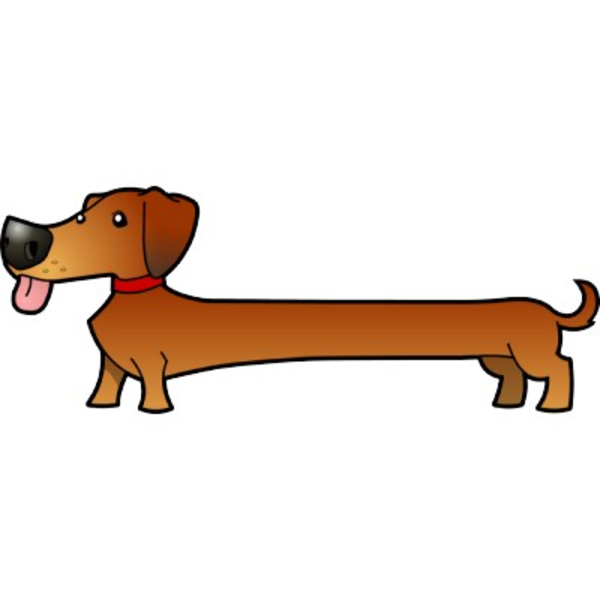 Dog image - vector clip art online, royalty free & public domain: cliparts.co/free-dachshund-clipart