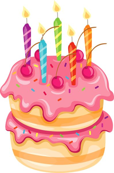 Pix For > Birthday Cakes Clipart