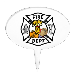 Firefighter Emt Cake Toppers, Firefighter Emt Cake Picks