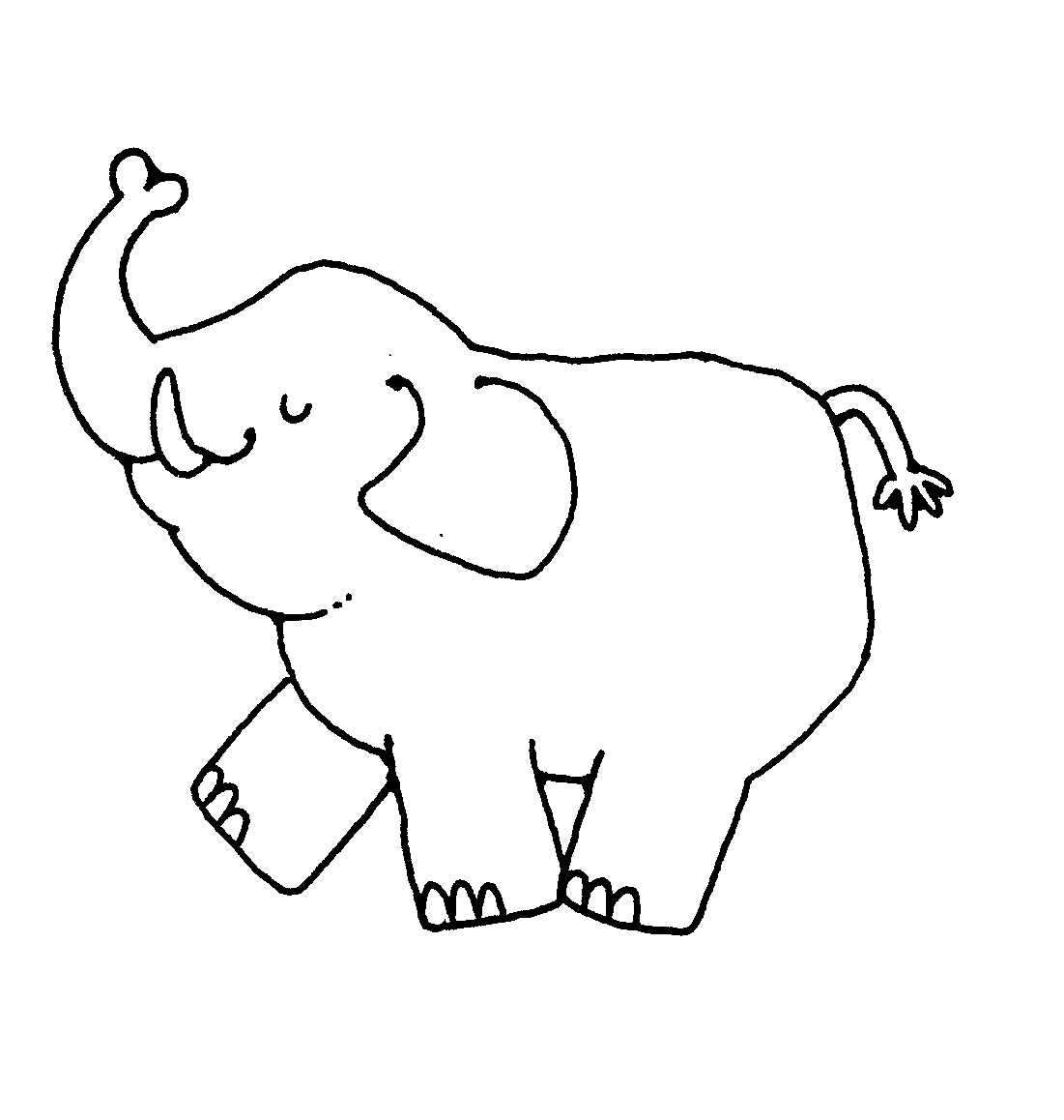 Elephants clipart black and white