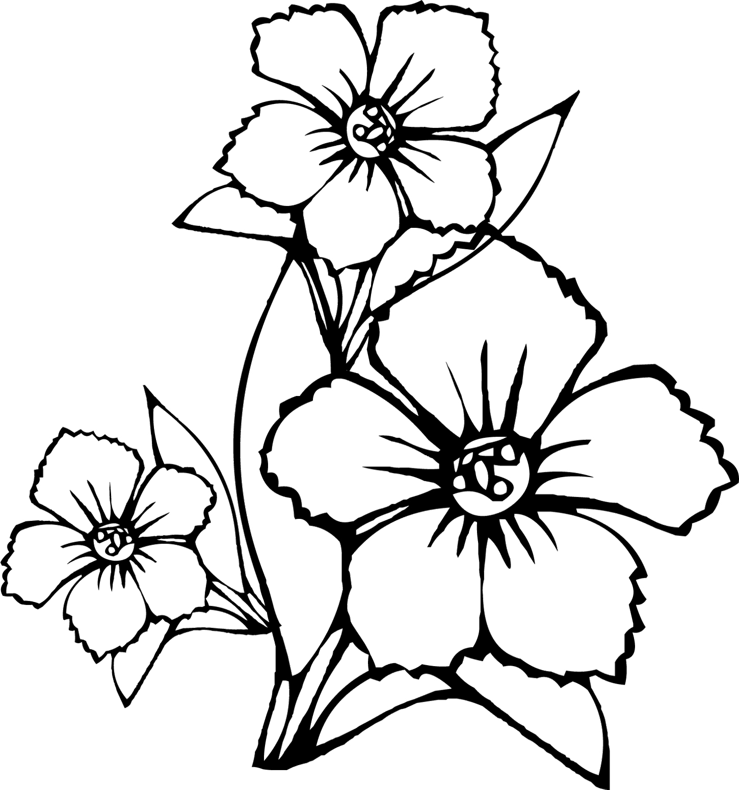 kids hawaii flowers coloring pages - photo#8