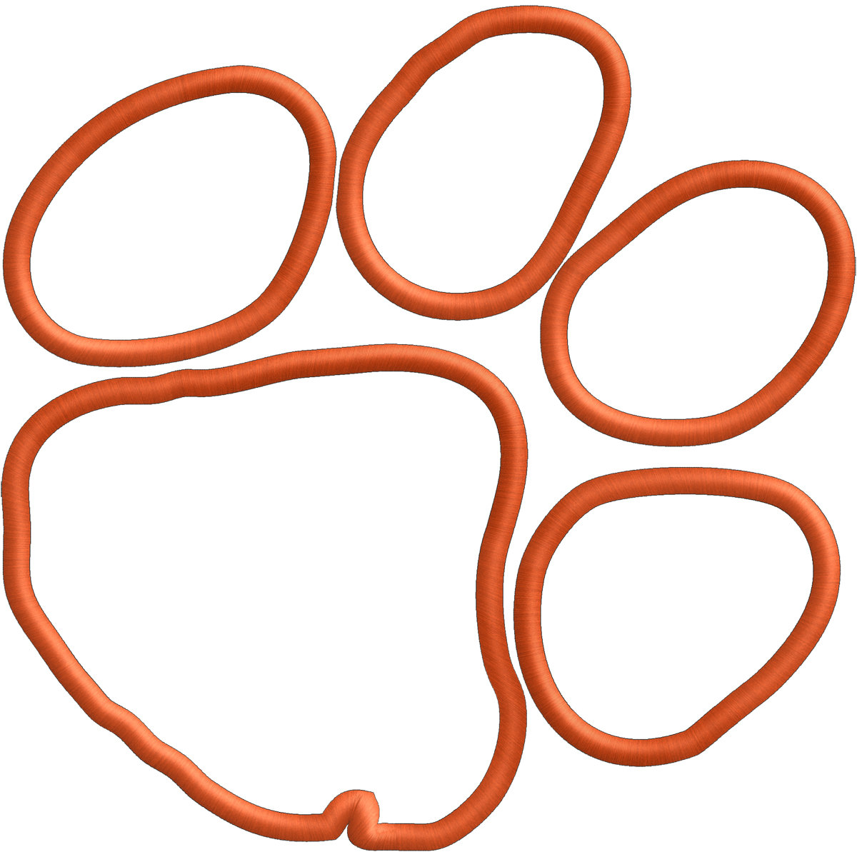 tiger paw template - tiger paw outline