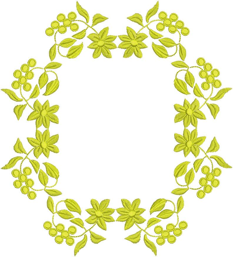 simple floral border pattern