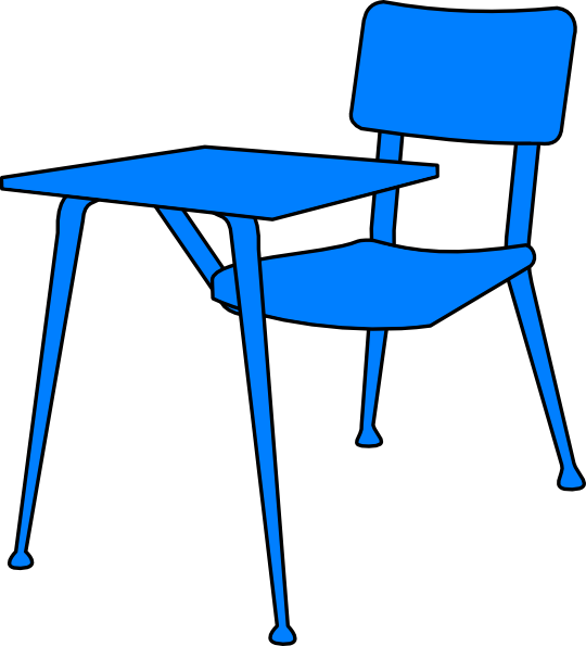 Blue Desk clip art - vector clip art online, royalty free & public ...