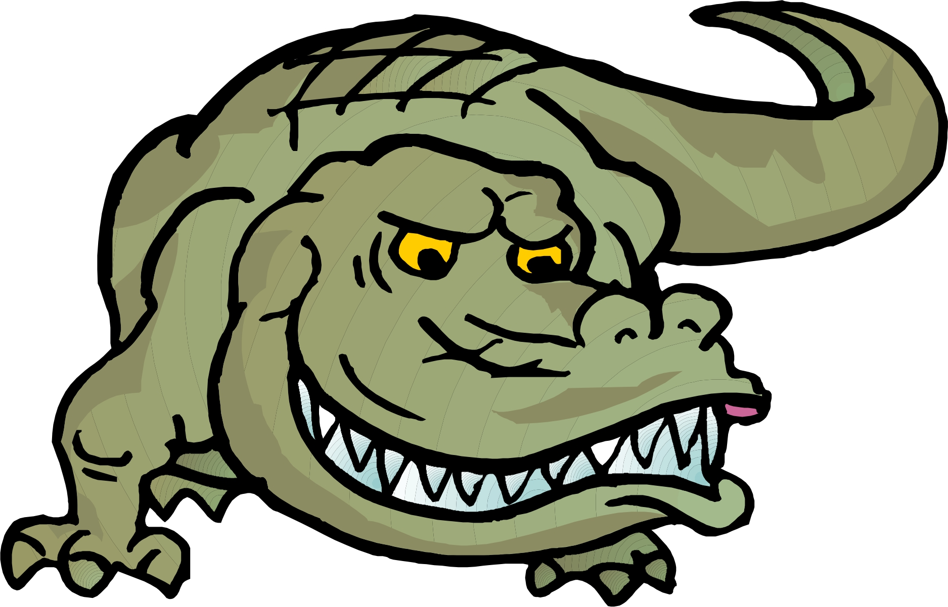 free animated alligator clipart - photo #50