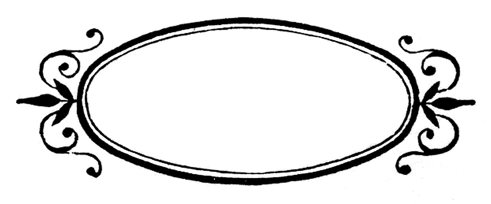 Vintage Oval Border Clip Art