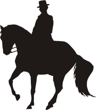 Horse silhouette dressage - photo#28