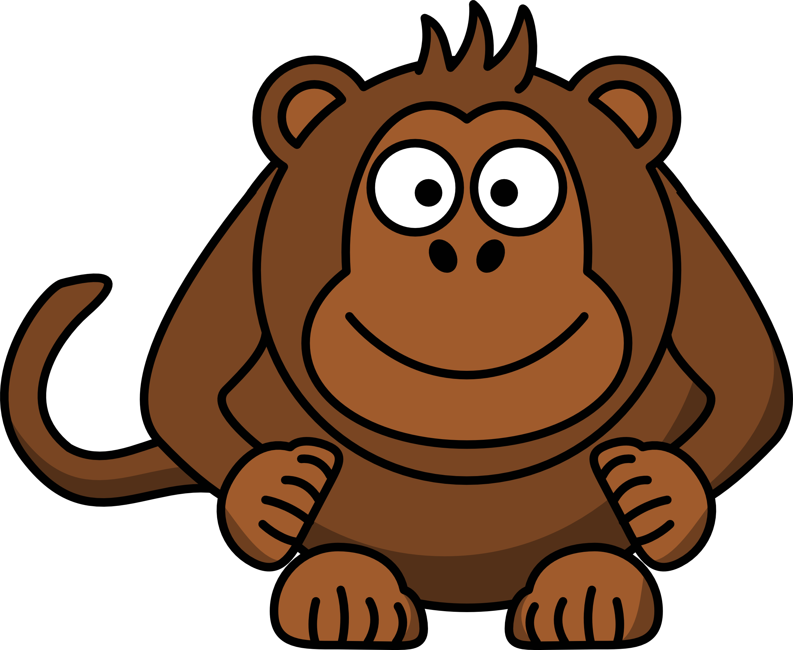 Monkey Cartoon Drawings - Cliparts.co