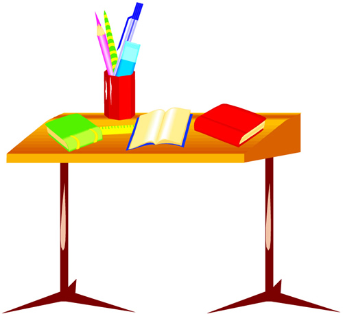 Cartoon Student Desk Cliparts Co