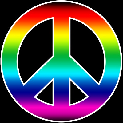 Simplicity image with printable peace sign