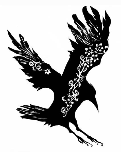 flying crow tattoos designs the image kid has it. Black Bedroom Furniture Sets. Home Design Ideas