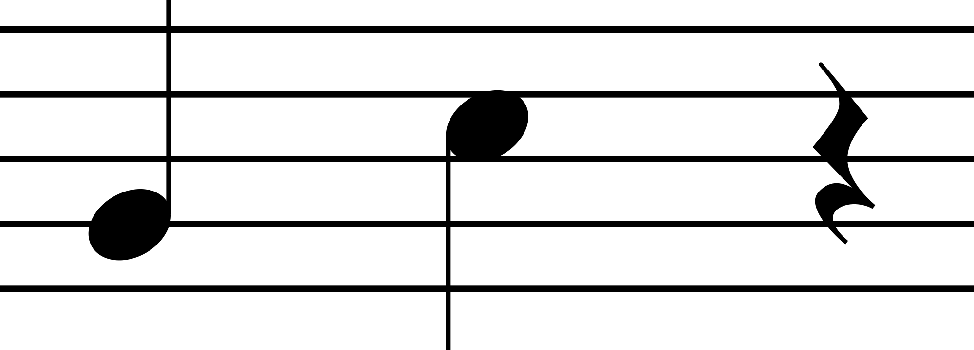 how to use quater rest in muse score