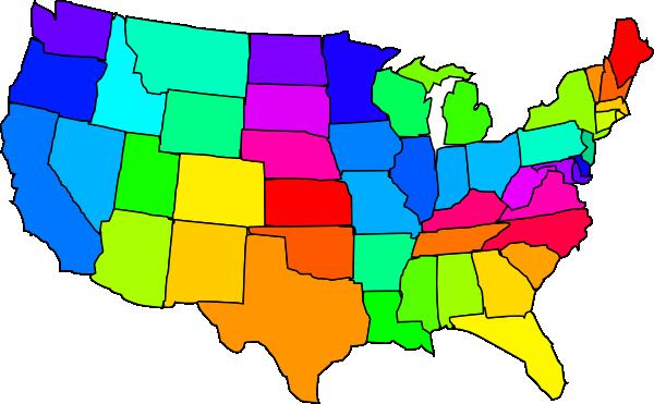 clipart map north america - photo #19
