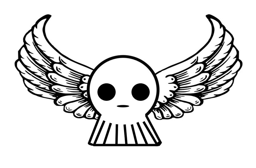 Skull With Angel Wings Drawing  Skulls And Wings Drawings