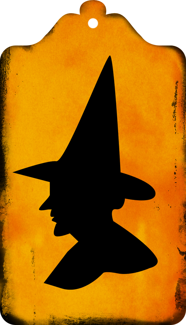 Free Witch Silhouette Tags & Clipart | Call Me Victorian