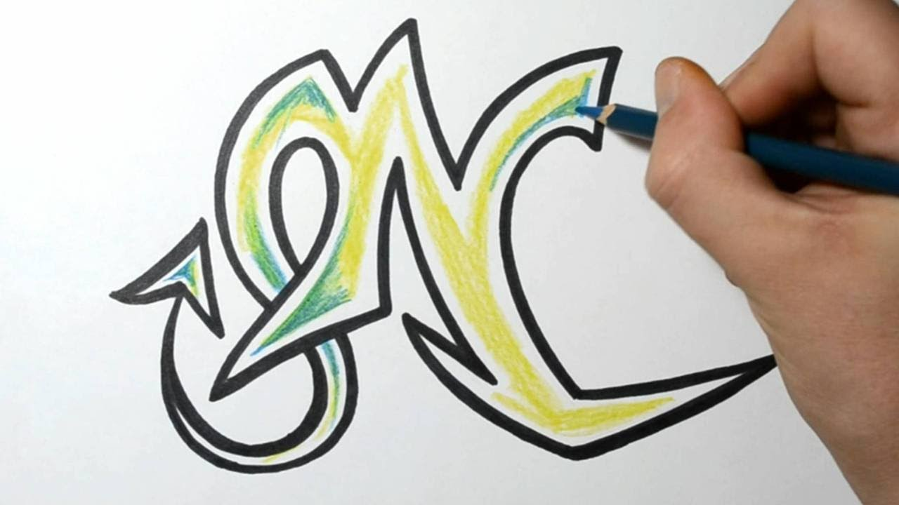 how to write your name in graffiti letters on paper