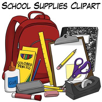 School-Supplies-Clip-Art-293831 Teaching Resources ...
