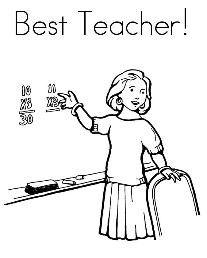 coloring pages of teachers - photo#28