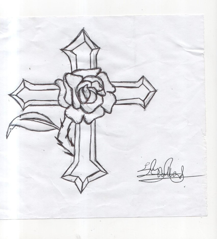 Easy Drawing Of A Cross With Wings | www.imgkid.com - The ...