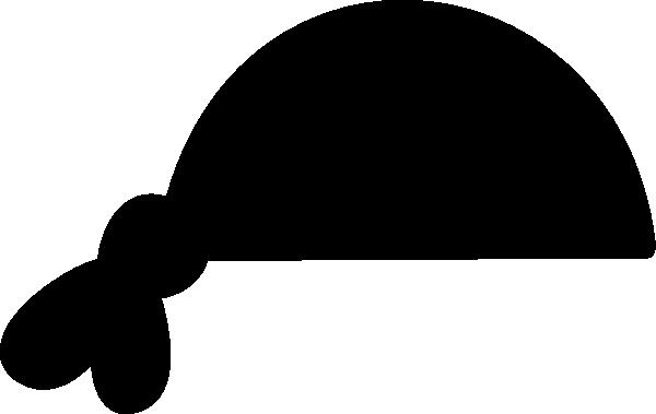 Black Pirate Bandana Clip Art - Vector Clip Art Online ...