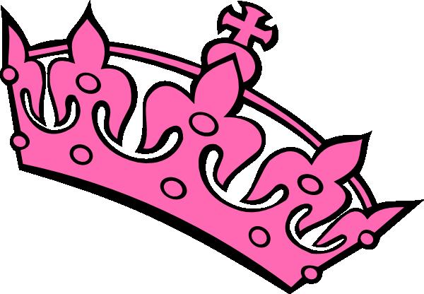 Pink Haley Tiara Princess clip art - vector clip art online ...