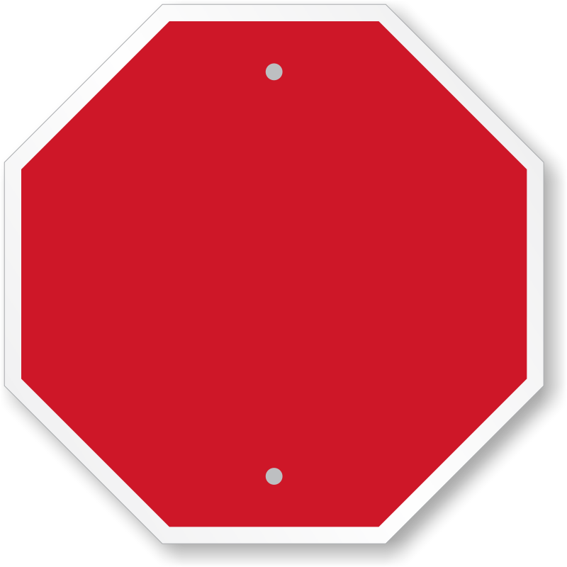 blank stop sign clipartsco