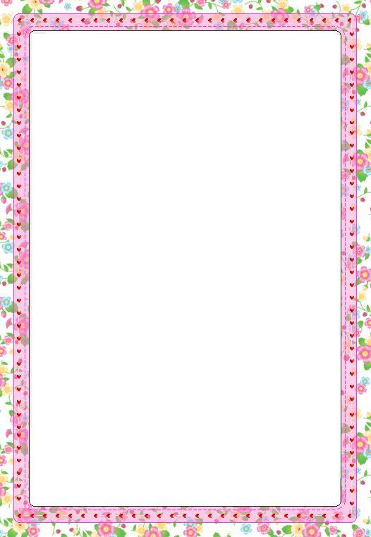 Printable Bordered Paper Designs Free Printable Pink and White – Printable Bordered Paper Designs Free