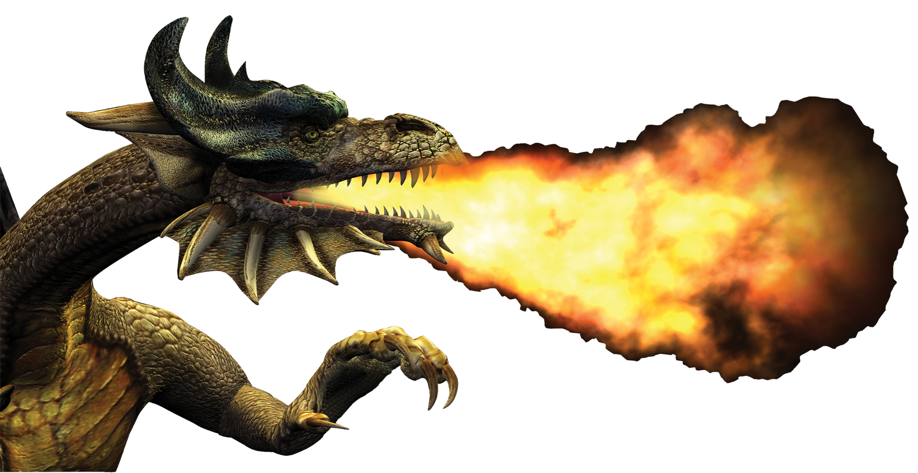 Fire Breathing Dragon - Cliparts.co