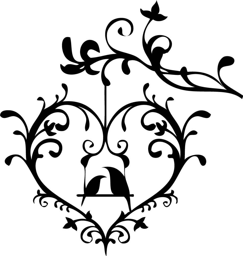 Wedding Love Birds Clipart Black And White Cliparts Co