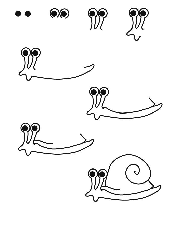 snail drawing. Black Bedroom Furniture Sets. Home Design Ideas