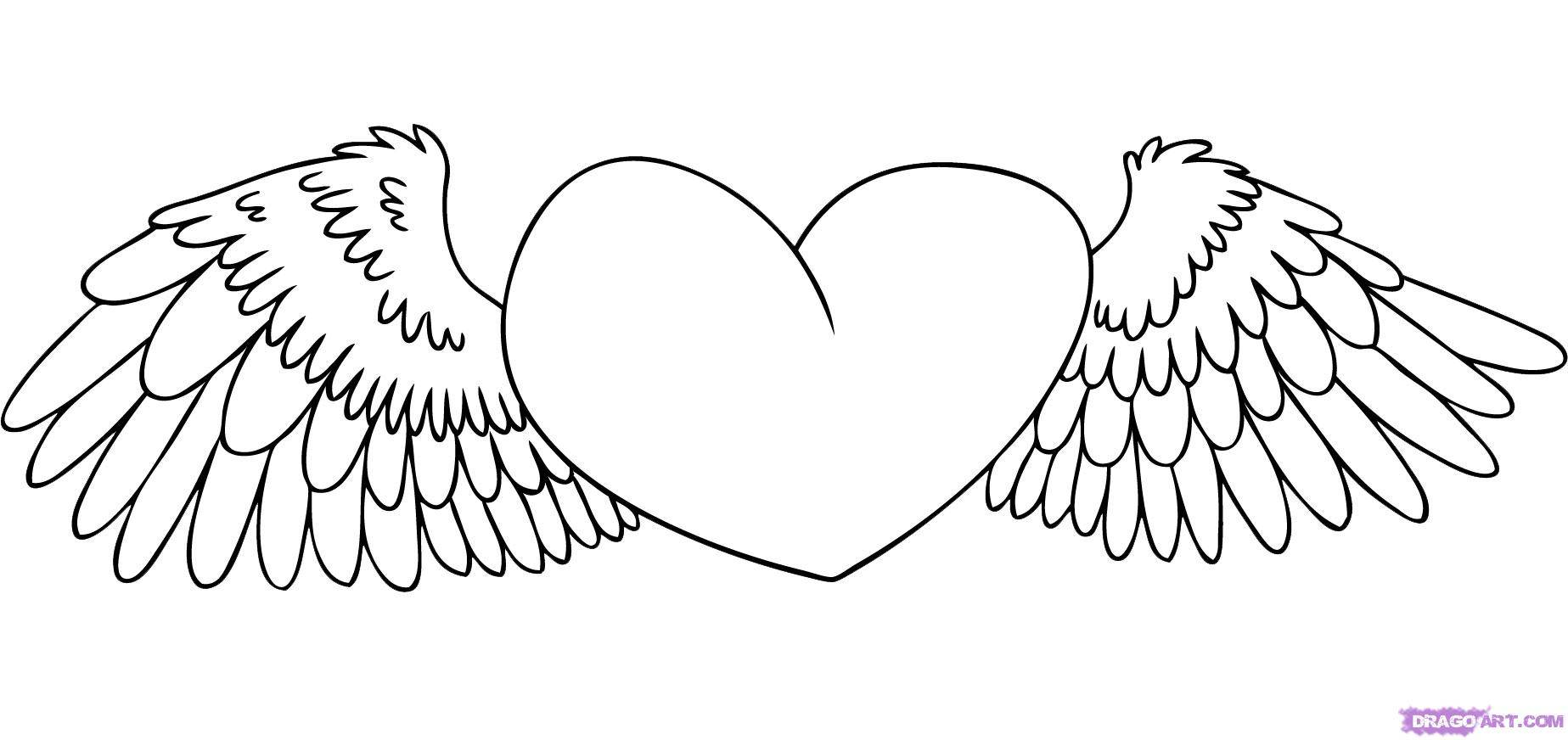 Easy Drawings Of Hearts Kids Drawing Coloring Page Clipartsco