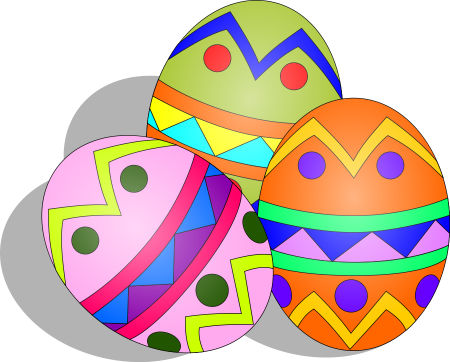 Easter Eggs Clipart, vector clip art online, royalty free design ...