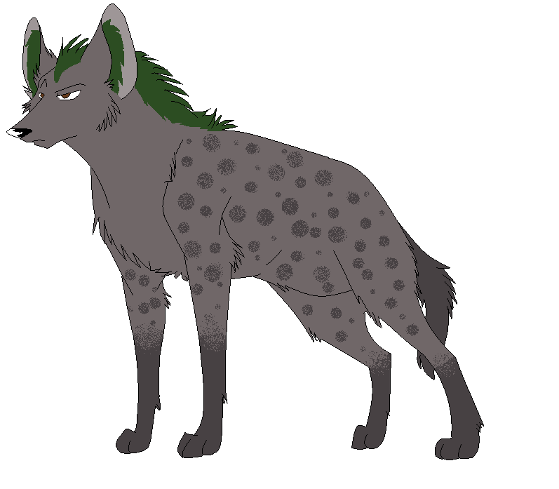 Hyena with a green mane by Pachirisupaw on deviantART