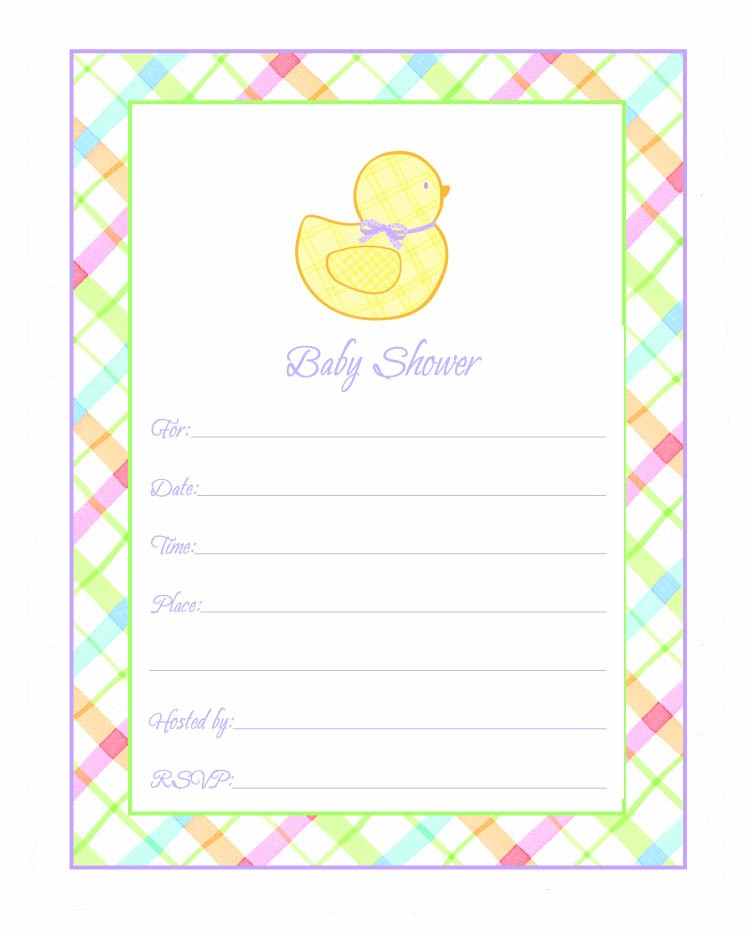 Baby Shower Multicolored Invitations | 20ct for $4.93 in General ...