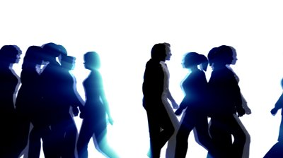 People Walking By 3D Vector Silhouette Animation Stock Footage ...