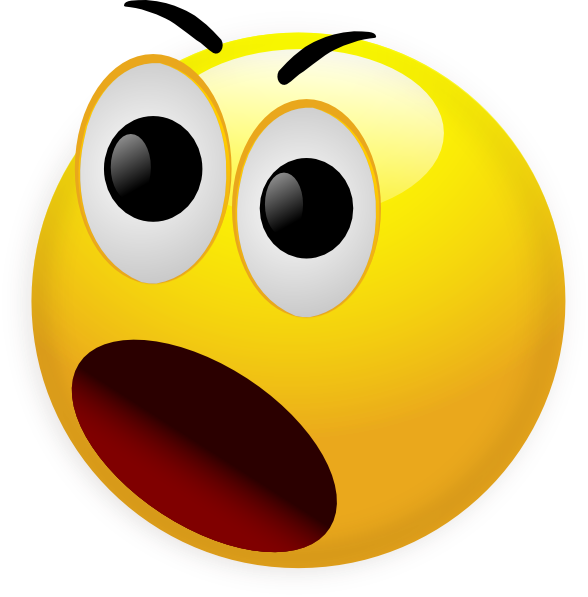 Shocked Smiley Face - Cliparts.co