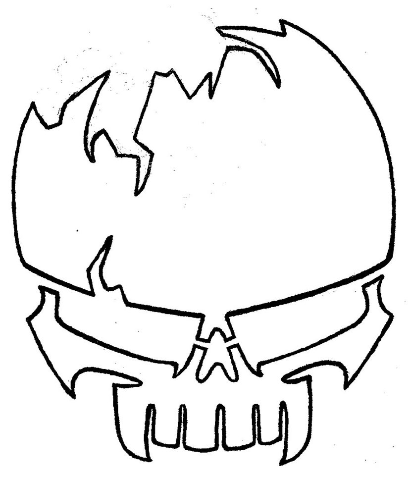 Skull Line Drawing Easy : Free skull drawings cliparts
