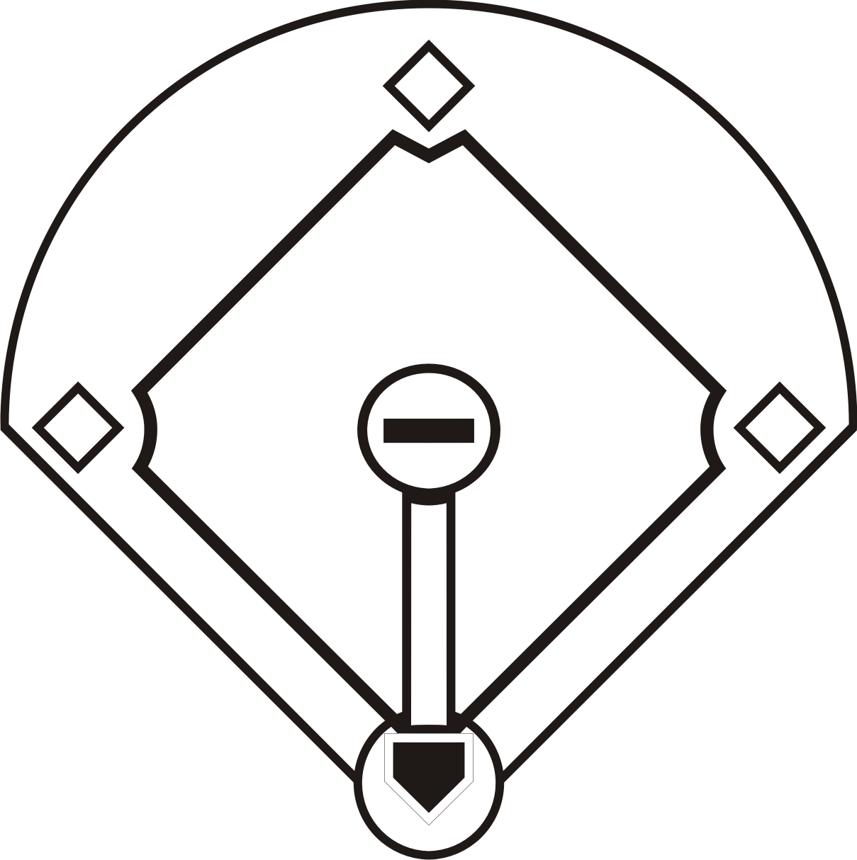 Vector Baseball Diamond - ClipArt Best
