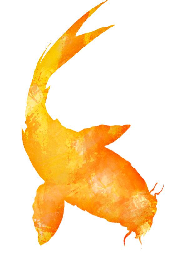Koi fish clipart golden yellow orange by jhcollaborative for Orange koi fish